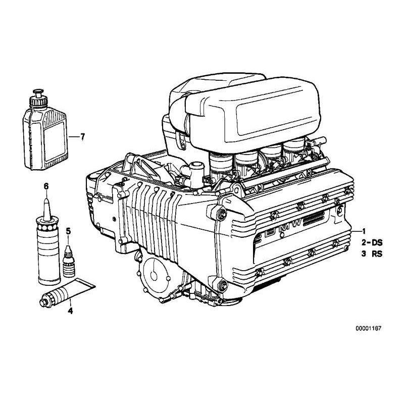 Original BMW Ölfilter Reparatursatz Ölwechsel K589 K1 K75 K100 K1100 11002300053